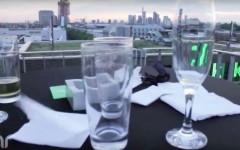 Blick vom Adlib auf Frankfurt, ein Dreh von InZwischenZeit:Filme