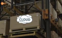 Symbolische Darstellung, wie die Cloud funktioniert