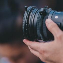 Ein Objektiv von der Filmkamera, Filme fürs Marketing