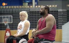 Training bei der Rollstuhlbasketball Mannschaft Dophins in Trier
