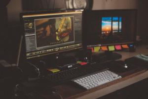 Ein Schnittplatz an dem ein Film erstellt wird. InZwischenZeit:Filme bietet hochwertige Filmproduktionen
